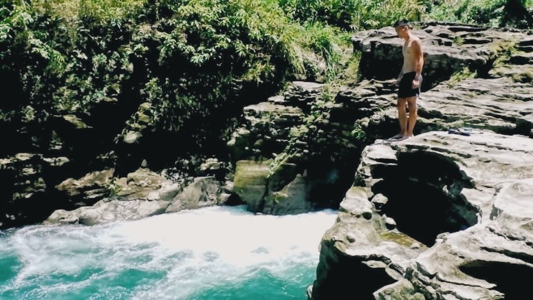Cliff Jump Trail to Tangadan Falls