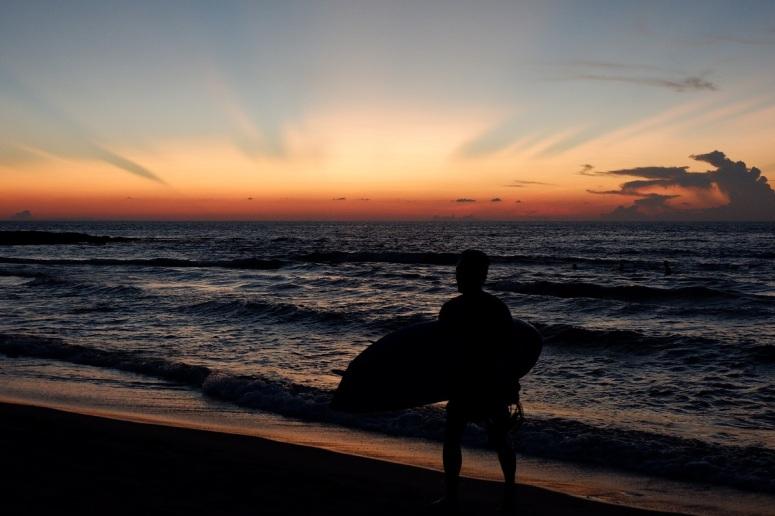 Surfer, Urbiztondo Beach, San Juan, La Union